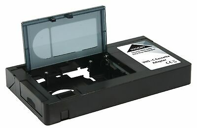 VHS C to VHS Cassette Adapter Converts Video Camcorder Tapes to VHS Video