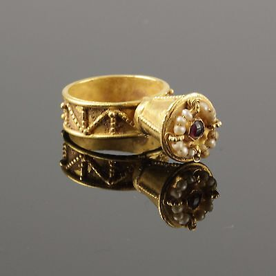 Beautiful Ancient Byzantine Gold Ring - Circa 6Th/8Th C Ad