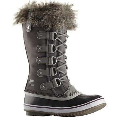 New Sorel Joan Of Arctic Boot Insulated Womens Quarry Leather Snow Shoes