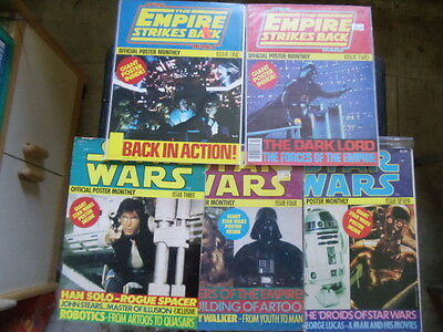 Lot of 5 Star Wars Official Poster Monthly magazines Empire Strikes Back rogues