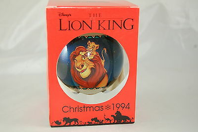 Schmid Disney THE LION KING Ornament 1994 Blue Glass Ball with Box