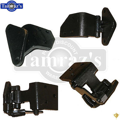 65-66 Mustang UPPER & LOWER Door Hinge CAST IRON - LEFT & RIGHT SET