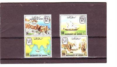 a114 - OMAN - SG250-253 MNH 1981 RETRACING THE STEPS OF SINBAD