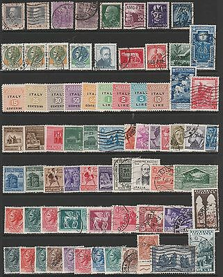 70 Mint and Used Stamps from Italy. Includes Express and Allied Military Stamps