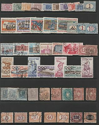 49 Used Stamps from Italy. Includes Earlies and Postage Dues.