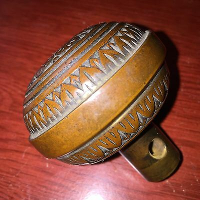Antique  Collectible Vernacular Eastlake Bronze Doorknob  Hardware 1880s #1