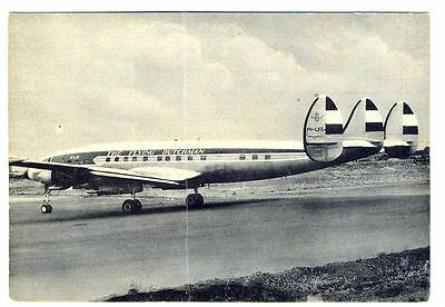 KLM Royal Dutch Airlines Lockheed Super Constellation L1049G  Postcard