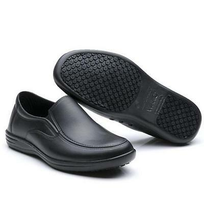 Mens Chef Shoes Nonslip Safety shoes for Kitchen Cook Oil Proof WaterProof ^