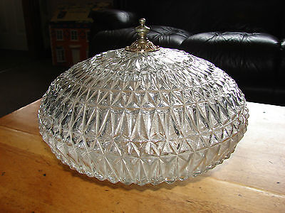Vintage Cut Glass Ceiling Light Fitting