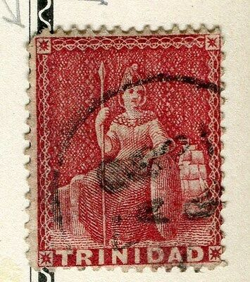 TRINIDAD;  1863-80 early classic QV issue fine used 1d. value