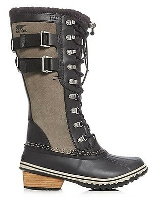 New Sorel Conquest Carly Boot Insulated Womens Black Kettle Leather Snow Shoes