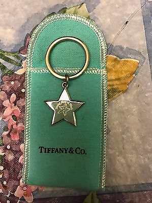 Authentic 2000 Tiffany & Co Sterling Silver Star Keychain