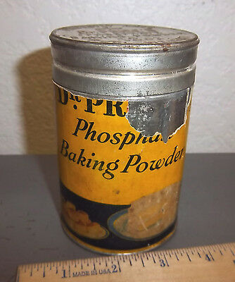 vintage Dr Prices Phosphate Baking Powder Tin, great colors & graphics, cool lid