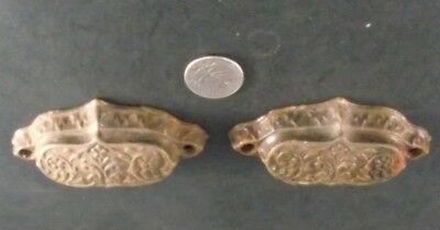 2 Antique Eastlake Style Cast Drawer Pulls  Cupboard,  Cabinet Drawers • CAD $31.23