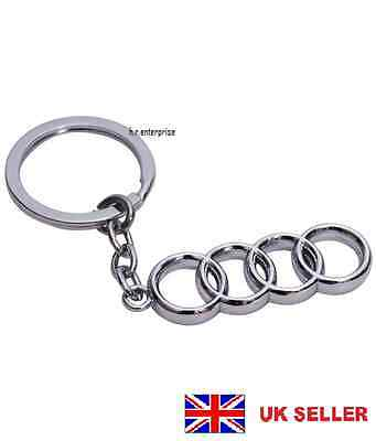 Audi Key Ring - NEW - UK Seller - Silver - Car Keyring