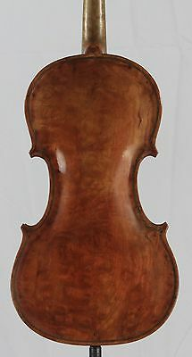 Nice old antique American Vintage  Violin  Amazing Curly Maple one piece Back