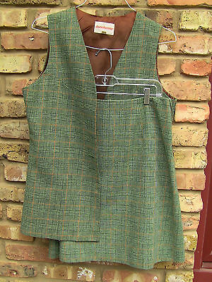 Vintage 1970s Donnkenny Wool Vest and Skirt Suit Set