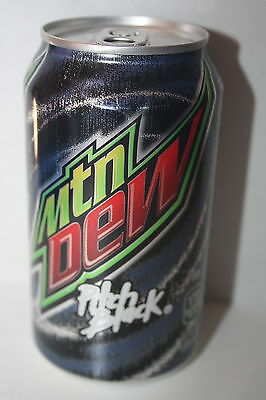 12 x USA Mountain Dew Pitch Black 355ml cans
