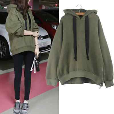 new fashion design women plus cashmere hoods loose long-sleeved sets of sweater2