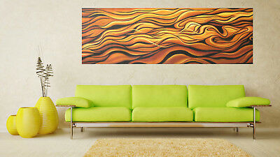 Huge abstract brown art painting Australia desert Landscape hand painted By Jane