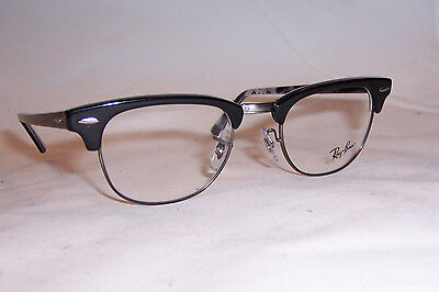 NEW Ray Ban RB RX 5154 RB5154 RX5154 5649 BLACK 49mm CLUBMASTER AUTHENTIC