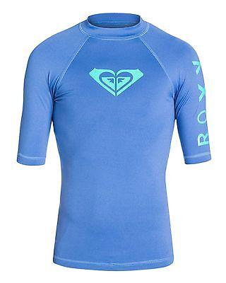 NEW ROXY™  Girls Whole Hearted Short Sleeve Rash Vest Teens Surf