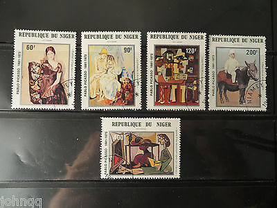 Niger Stamps C310-C314, Picasso Paintings, NH, SCV $4