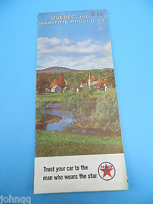 Vintage 1966 Texaco Map - Quebec Canada and Maritime Provinces