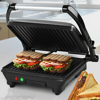 Electric Sandwich Maker Toaster Press Panini Grill Drip Tray Toastie 220-240 V