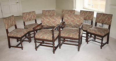 8 antique oak dining room chairs