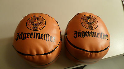 "Set of 2 Mini Jagermeister Basketballs - Approx 4"" round - Name/Logo each side"