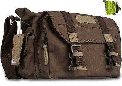 Camera Shoulder Bag Canvas Case Waterproof DSLR SLR For Canon Nikon Sony Pentax