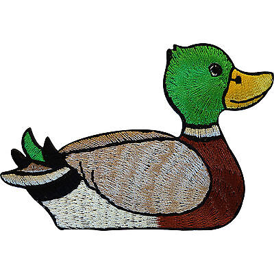 Embroidered Duck Iron On Patch Sew On Badge Animal Embroidery Clothes Applique