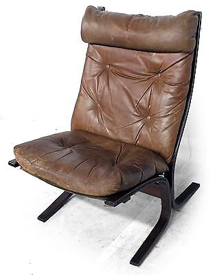 1960s Retro Vintage DANISH RELLING SIESTA ANILINE LEATHER ARM LOUNGE CHAIR