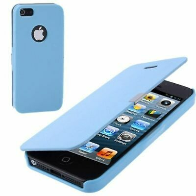Smartphone Case for Mobile Phone Apple iPhone 5 & 5S Case Wallet Light Blue Top