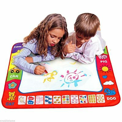 Kids Aqua Doodle Drawing Toys 1 Painting Mat + 2 Water Drawing Pen Blue