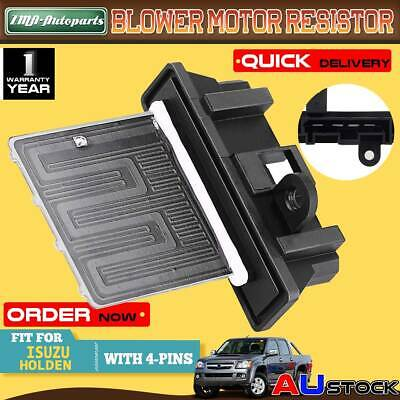 Blower Motor Heater Fan Resistor for Isuzu D-Max Holden Colorado 2008-2011Manual