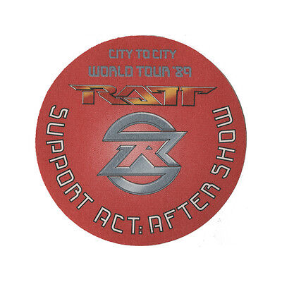 Ratt Red Support Aftershow 1989 Backstage Pass