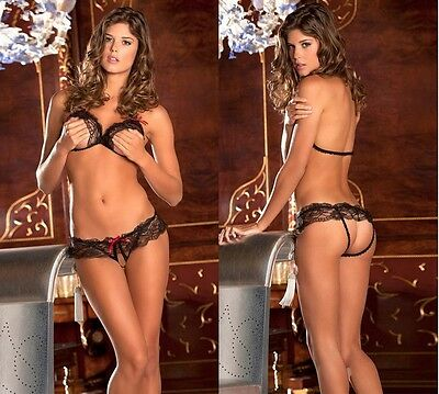 Sexy Lingerie intimo pizzo hot Donna Completino catsuit body regalo