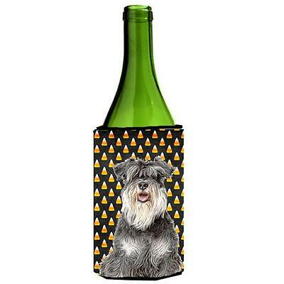 Carolines Treasures Candy Corn Halloween Schnauzer Wine bottle sleeve Hugger