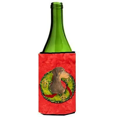 Carolines Treasures Doberman Christmas Wreath Wine bottle sleeve Hugger 24 oz.