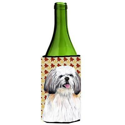 Shih Tzu Fall Leaves Portrait Wine bottle sleeve Hugger 24 oz.