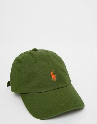 Ralph Lauren Polo Baseball Cap - Olive Green - One Size