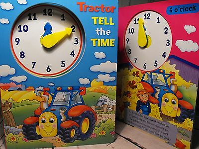 TELL THE TIME BOOK FARM learn to tell the time HARDBACK STORY BOOK FREE P +P