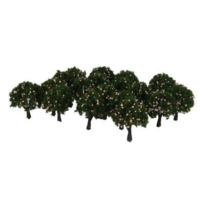 20pcs N Z Scale Peach Fruit Model Trees Layout Scenery For Train Railway 4cm