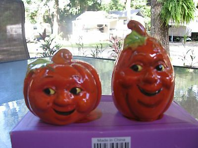 Halloween Ceramic Pumpkin Salt & Pepper Shakers