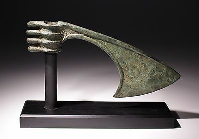 Quality Bronze Age Spike Butted Axe Head  Luristan,persia 1200-1000Bc