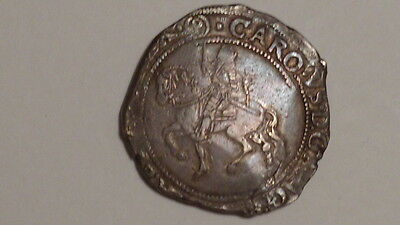 Charles 1st Half-Crown.S2778.mm (P). Hammered.Stuart. Strong Horse. Nice Toning