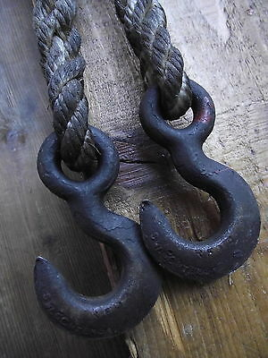 Pair Vintage Industrial Hanging Hooks old original factory reclaimed light lamp