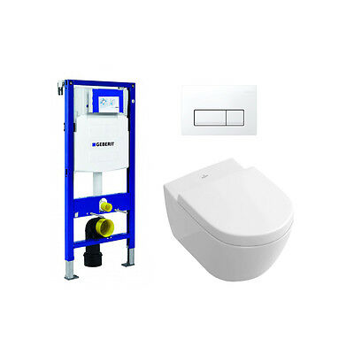 Villeroy & Boch Subway 2.0 Ceramic Plus Wall Hung WC with Soft Close Seat, Frame